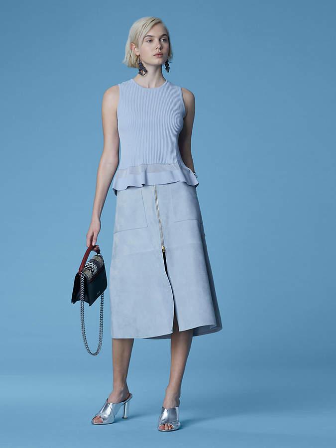 Diane von Furstenberg Patch Pocket Midi Skirt