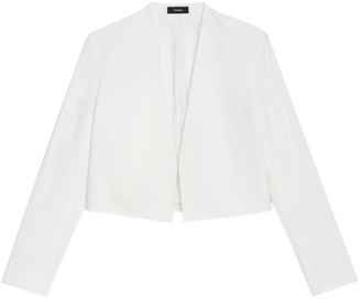 Theory Collarless Open-Front Jacket