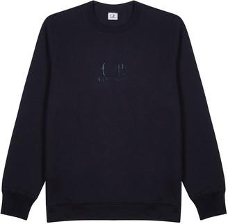 C.P. Company Navy logo cotton sweatshirt