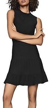 Reiss Clem Sheer Striped Knit Flippy Dress