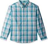 Haggar Men's Big and Tall Long Sleeve Weekender Shirt