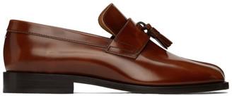 Maison Margiela Brown Leather Tabi Loafers
