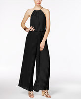 Thalia Sodi Pleated Halter Jumpsuit, Created for Macy's