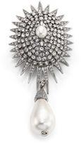 Oscar de la Renta Bridal Star Crystal & Faux Pearl Brooch
