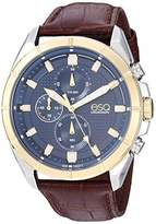 ESQ Men's Stainless Steel Chronograph Watch w/ Leather Strap FE/0134