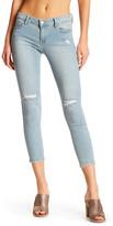 Just USA Distressed Slit Knee Cropped Skinny Jean (Juniors)