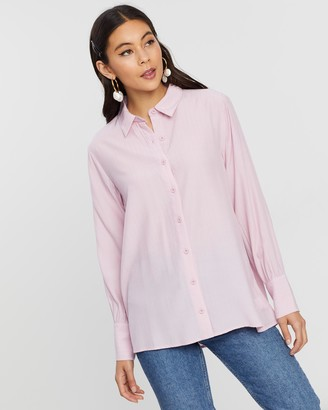 Dazie Hey Girl Relaxed Shirt