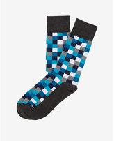 Express checked dress socks