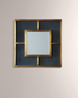 Port 68 Cairo Brass & Shagreen Mirror