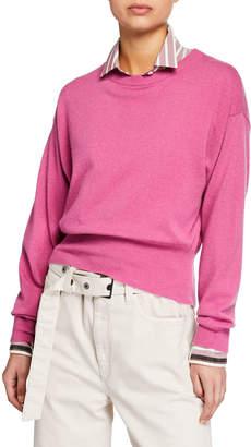 Brunello Cucinelli Cashmere Cropped Crewneck Sweater