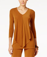 Alfani Layered-Look Draped-Front Top, Only at Macy's