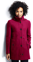 Classic Women's Tall Boiled Wool Hooded Parka-Washed Cobalt