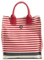 Barbour Coast Striped Canvas Tote - Red