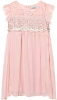 Mayoral Pink Lace and Sequin Crepe Party Dress