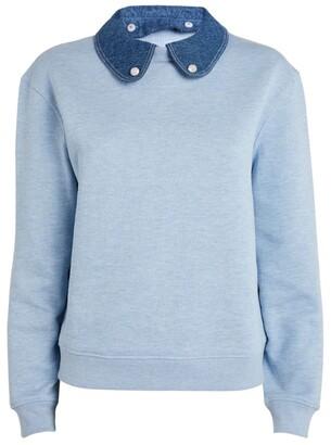 Claudie Pierlot Denim-Collar Sweater