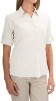 White Sierra Gobi Desert Shirt - UPF 30+, 3/4 Sleeve (For Women)