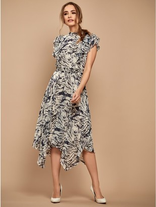 M&Co Sonder Studio animal ruffle dress