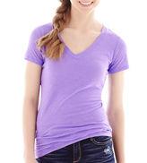 Arizona Short-Sleeve Solid V-Neck T-Shirt