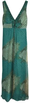 La Perla Turquoise Silk Dress for Women