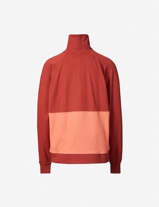 Iben High-neck organic cotton-knit sweatshirt