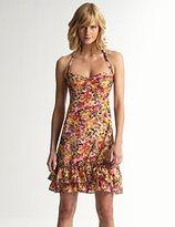 Airbrush Floral Halter Dress