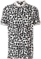 Dolce & Gabbana abstract pattern polo shirt