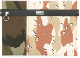 MM6 MAISON MARGIELA Leather Camou Print Clutch