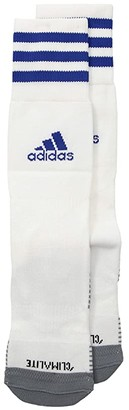 adidas Copa Zone Cushion IV Over the Calf Sock (White/Black) Crew Cut Socks Shoes