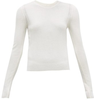 Altuzarra Platte Button-back Wool-blend Sweater - White