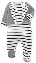 Petit Bateau Baby pyjamass and cardigan set