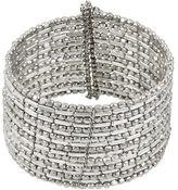 Kenneth Cole New York Silvertone Seed Bead Coil Bracelet
