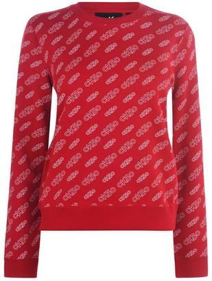 Calvin Klein AOP Regular Crew Sweatshirt