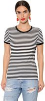 Dolce & Gabbana Dgfamily Detail Striped Jersey T-Shirt