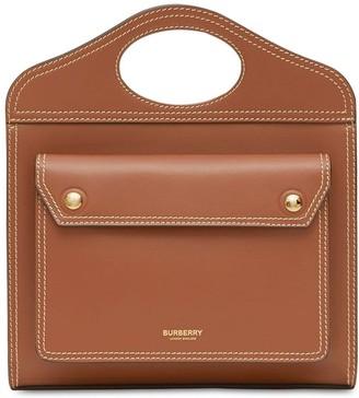 Burberry Mini Leather Pocket Bag