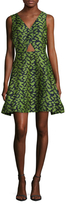 Zac Posen Chantal Printed Flare Dress
