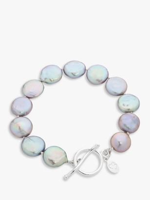 Claudia Bradby Bedruthan Freshwater Coin Pearl Bracelet