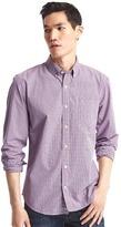 Gap True wash mini checkered standard fit shirt