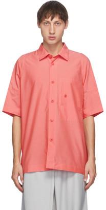 132 5. ISSEY MIYAKE Pink Men 1 Short Sleeve Shirt