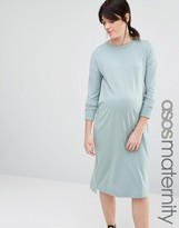 Asos Column Dress With High Neck