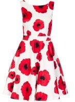Dorothy Perkins Womens *Quiz Cream Poppy Print Satin Dress- Cream