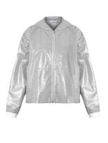Alexander Wang Hooded laminated-jersey sweatshirt