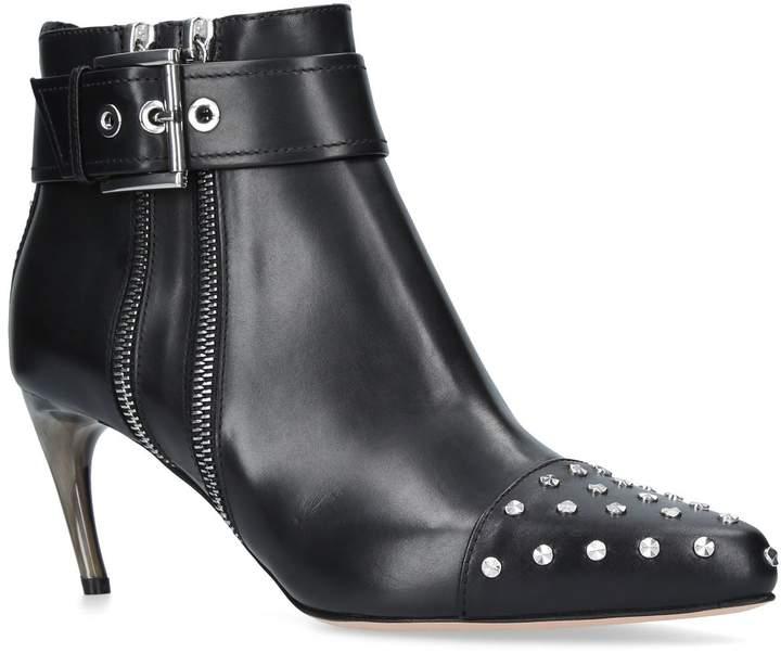 Alexander McQueen Stud Horn Ankle Boots 65