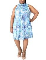 Thumbnail for your product : Robbie Bee Plus Size Printed Shift Dress