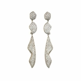 Kara Ross Petra Pave Triple Drop Earrings