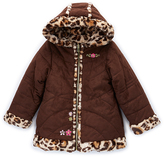 Pacific Trail Brown Faux Suede Reversible Peacoat - Toddler & Girls