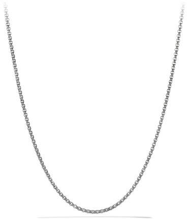 "David Yurman Small 24""L Titanium & Sterling Silver Box Chain"