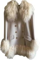 Sonia Rykiel White Shearling Coat for Women