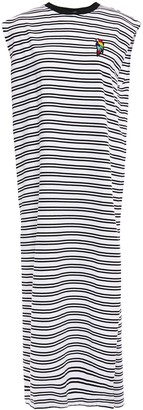 Être Cécile Appliqued Striped Cotton-jersey Midi Dress