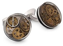 Tateossian Round Gear Cufflinks