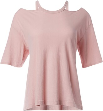 LAmade Women's Collarbone Cut Out Crew Neck tee